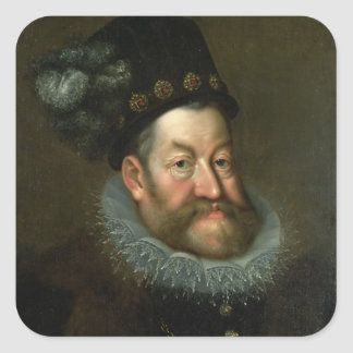 Rudolf II , 1600-3 Square Sticker