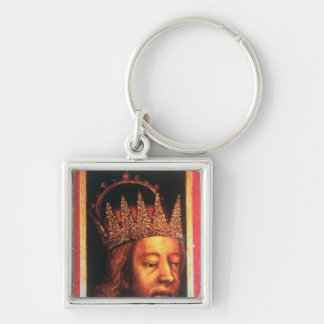 Rudolf IV, Emperor of Austria and Tyrol , c.1360 Silver-Colored Square Keychain
