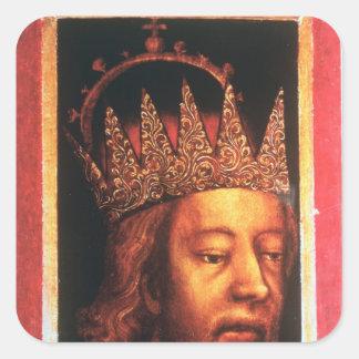 Rudolf IV, Emperor of Austria and Tyrol , c.1360 Square Sticker