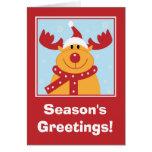 Rudolf la tarjeta de Navidad del reno