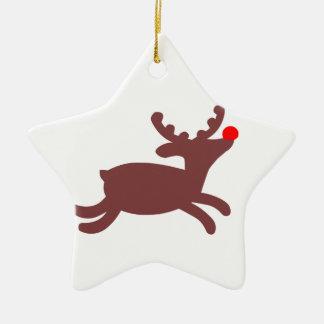 Rudolf Reindeer Ceramic Ornament