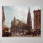 Rudolf Ritter von Alt - catedral del St Stephens Poster