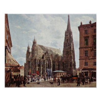 Rudolf Ritter von Alt - catedral del St Stephens Póster