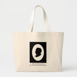 Rudolf Steiner Cameo With Dates Large Tote Bag