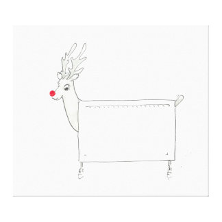 Rudolf the Red Nosed Radiator Canvas Print