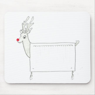 Rudolf the Red Nosed Radiator Mouse Pad