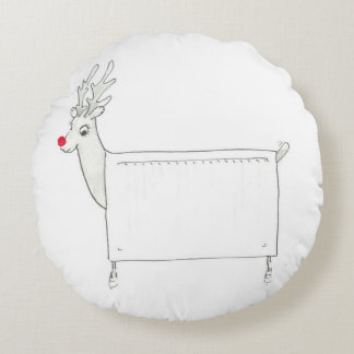 Rudolf the Red Nosed Radiator Round Pillow