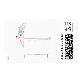 Rudolf the Red Nosed Radiator Stamp