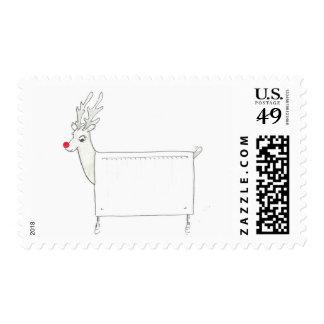 Rudolf the Red Nosed Radiator Stamp