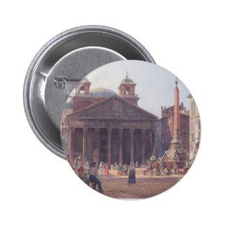 Rudolf von Alt- The Pantheon and the Piazza della Pins