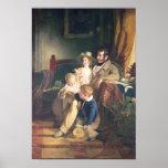Rudolf von Arthaber con sus niños Rudolf Póster