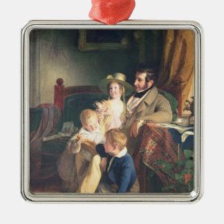 Rudolf von Arthaber  with his Children Rudolf Metal Ornament