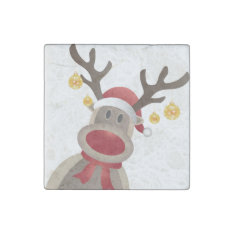 Rudolpchristmas Magnet- Kitchen Decoration Or Gift Stone Magnet at Zazzle