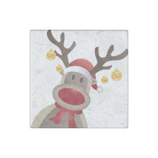 RudolpChristmas Magnet- Kitchen Decoration or Gift Stone Magnet
