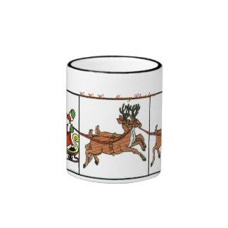 Rudolph 000014 000015 Ho Ho Ho… feliz Chr… Tazas De Café