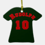 Rudolph 10 Football Jersey Ornament