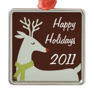 Rudolph 2011 Personalized Holiday Metal Ornament ornament