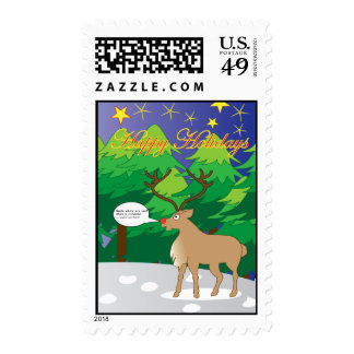 rudolph all alone stamp