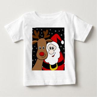 Rudolph and Santa selfie Baby T-Shirt