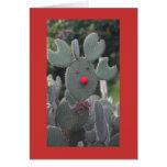 Rudolph Cactus Card