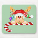 Rudolph Candy Cane mousepad