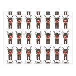 Rudolph Christmas Pattern.png Post Card
