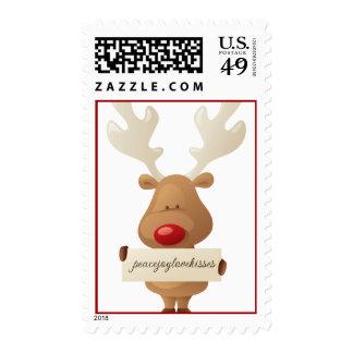 Rudolph con franqueo del día de fiesta del navidad sellos postales