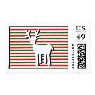 Rudolph con las rayas timbres postales