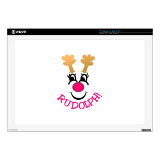"""Rudolph Decal For 17"""" Laptop"""