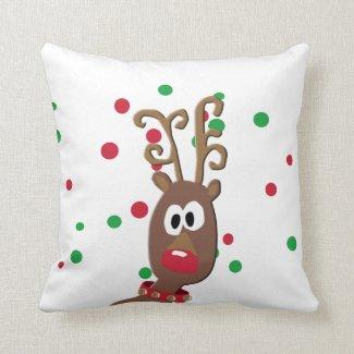 Rudolph Decorative Christmas Pillow