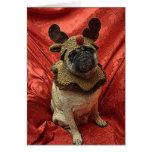 Rudolph el barro amasado rojo de la nariz tarjetas