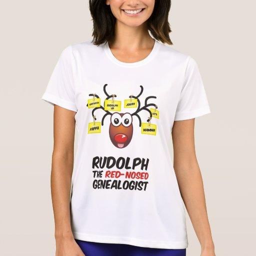 Rudolph el Genealogist con la nariz roja Camisetas