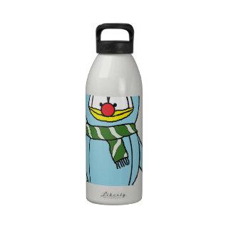 Rudolph el pingüino sospechado rojo botellas de agua reutilizables