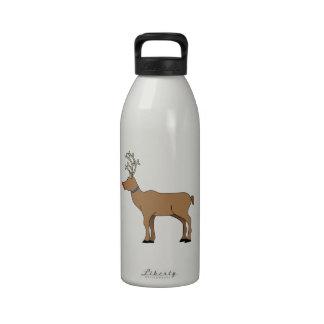 Rudolph el reno sospechado rojo botella de agua