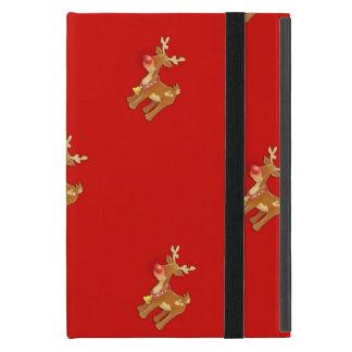 Rudolph el reno sospechado rojo iPad mini carcasa