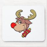 Rudolph el reno sospechado rojo tapete de ratón