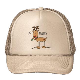 Rudolph el rojo sospechó el gorra de Reigndeer