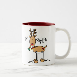 Rudolph el rojo sospechó la taza de Reigndeer