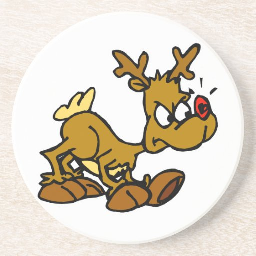 Rudolph enojado posavasos diseño