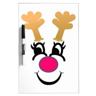 Rudolph Face Dry Erase Board