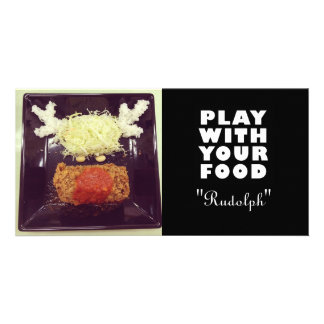 Rudolph Food Face Photo Card