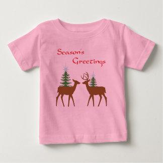 Rudolph & girlfriend Seasons Greetings baby shirt