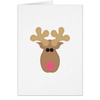 Rudolph hace frente tarjeta de felicitación