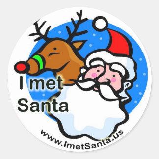 Rudolph - hice frente al pegatina de Santa