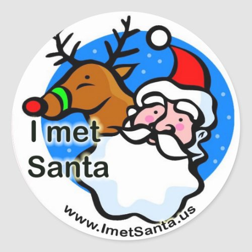 Rudolph _ I Met Santa Sticker