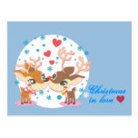 Rudolph in Love Post Card