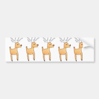 Rudolph la pegatina para el parachoques del reno pegatina para auto