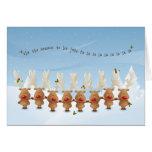 Rudolph la tarjeta de la canción del día de fiesta