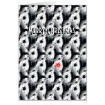 Rudolph la tarjeta de Navidad barbuda del collie