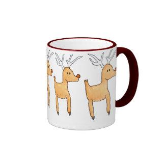 Rudolph la taza de café del reno